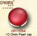 Polo Type Pearl Cap Snap Button (222#OR-34)