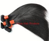 100% бразильского Virgin Реми шелковистой прямых волос человека