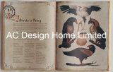 La ornitología PU del cuero y madera MDF de forma de libro de arte de pared