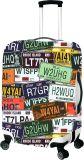 Couverture L de valise de bagages de bagage de course de Spandex de produit hydrofuge