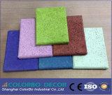 Decorativos naturales junta, lana de madera panel acústico