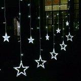Свет звезды 138LEDs 12 оптовой продажи 2m большой для света занавеса звезды украшения СИД Xmas рождества