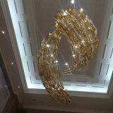 Novo design de moda Clourful Peixe Lâmpada pendente de vidro com o Hotel