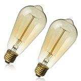 Lámpara industrial AC110V/220V de Edison de la bombilla del filamento del estilo de la vendimia retra de E27 60W