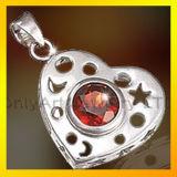 CZ Silver сердце Locket подвесной 925 украшения для леди