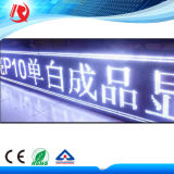 Módulo branco ao ar livre do diodo emissor de luz da cor do indicador de diodo emissor de luz P10 para anunciar o indicador