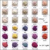 Pigmentos fotocromáticos para esmalte de uñas Fabricante, el polvo de cambio de color de luz UV