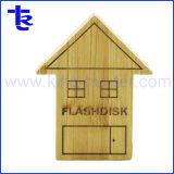 木の家のPendriveのメモリ記憶の彫版USBのフラッシュ