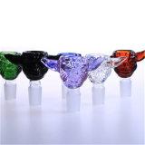 Tazón de vidrio colorido con 14mm y conjunta de 18mm