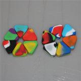 Triángulo de cera silicona silicona 1,5 ml de contenedores de almacenamiento de silicona Jar DAB