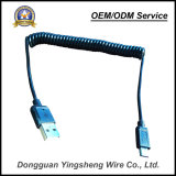 携帯電話のための高品質USBマイクロCharge&Dataの伸縮性がある螺線形ケーブル