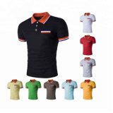 Collier rayé Customed Logo Service OEM de conception classique Vêtements décontractés Sports Pique Singgle Jersey matériel POLO Hommes