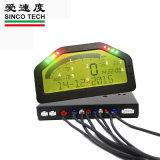 Sensor Digital Racing carro medidores de 12V no painel LCD com luz de fundo de cor verde Universal