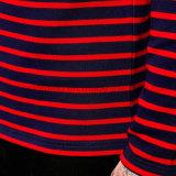 Les hommes à manches longues Stripe Coton T-shirt col rond
