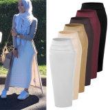 Moda Mujer largo tejido de lana elástico de alta calidad de la mitad de larga falda para señoras musulmanas