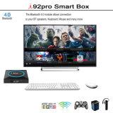 I92 PROAndroid IPTV Fernsehapparat-Kasten mit Amlogic S905X 2GB RAM/16GB ROM-Support 4K, WiFi, intelligenter Fernsehapparat-Kasten Media Player