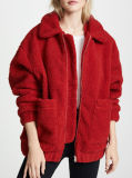 工場OEM Desigの女性の方法赤のコート