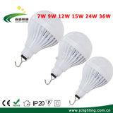 12W 15W 24W 36W recarregável USB E27 E26 Iluminação inteligente lâmpada LED de Emergência