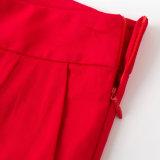 Nova cor vermelha de algodão cultivado a mulher sexy nexo calças Slim