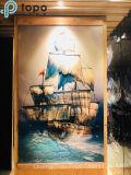 Pittura di vetro di verniciatura colorata della barca a vela di arte di vetro della parete (MR-YB17-828)