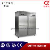 En position verticale solide cuisine porte réfrigérateur (TJB-dB-910) Le matériel de réfrigération