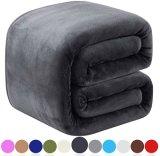 羊毛はすべての季節350GSM -ベッドの余分柔らかいブラシファブリック暖かいソファーの防寒用の毛布のための優れた軽量の帯電防止投球のための女王の赤ん坊のサイズの一面をおおう