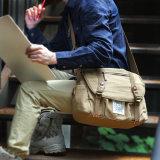 Sac d'épaule de messager et d'homme d'ordinateur portatif de sac à main de toile