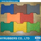 Пол цветастой квадратной гимнастики резиновый, резиновый крен пола, плитка резины блокировки