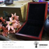 De Houten Doos van Hongdao, de Gouden Doos van de Juwelen van het Embleem Houten met de Voering van het Fluweel