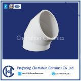 Curvas de cerâmica de alumina a camisa do tubo para a tubulação de chorume de cinzas