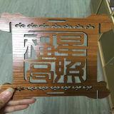 De Gravure van de laser en Scherpe Machine op het Acryl Houten Document Jieda van Planken