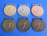 La gymnastique Médaillon en métal