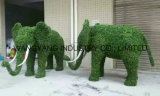 Скульптура травы фальшивки декора сада естественная зеленая слона