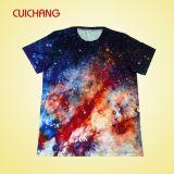 T-shirt faible de blanc de sublimation de Price&Highquality, T-shirt fait sur commande, T-shirt d'impression de sublimation