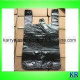 Sacs de détritus d'ordures de T-shirt de sacs de transporteur de gilet de HDPE