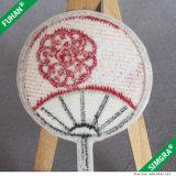 Sew on Hand Fan Formape Embriodery Label