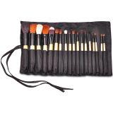 18 negro PCS profesionales maquillaje cosmético Brush set (HERRAMIENTA-61)