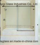 Bureau de 10mm/banque/hôtel encadrée porte coulissante en verre trempé de bord avec la CE et SGCC