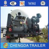 중국 3 차축 대량 분말 세미트레일러 45m3 시멘트 부피 트레일러