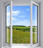 Doppeltes glasierte Schwingen geöffnetes Belüftung-Flügelfenster-Glasfenster mit niedrigem Preis (PCW-039)