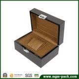 Brilhante Piano topo caixa de relógio de madeira