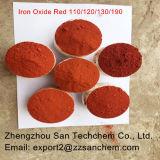 130 de alta calidad óxido de hierro rojo de ladrillos, terminadoras fertilizantes
