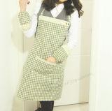 Scottish Plaid avental de algodão Lazer cozinha doméstica avental sem mangas