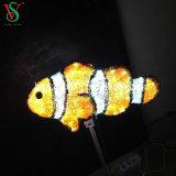 la sculpture 3D allume des poissons pour la décoration extérieure