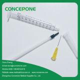1ml Luer Lock Medical Syringe con 3 Parte