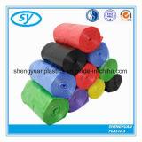 Sac d'ordures multicolore de plastiques de LDPE/HDPE sur le roulis