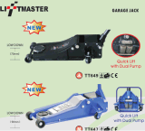 80mm Low Entry Profile 2 Ton Trolley idraulico Car Floor Jack