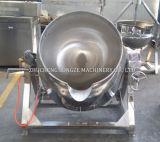 Multi vapore del gas che inclina ostruzione che cucina caldaia usata per lo spaccio di bevande