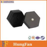 Schwarzer Artpaper Sexangle Speicher-verpackengeschenk-Papierkasten