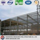 Vertiente del taller de la construcción de la estructura de acero